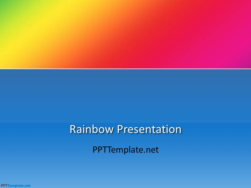 Free Rainbow PPT Template