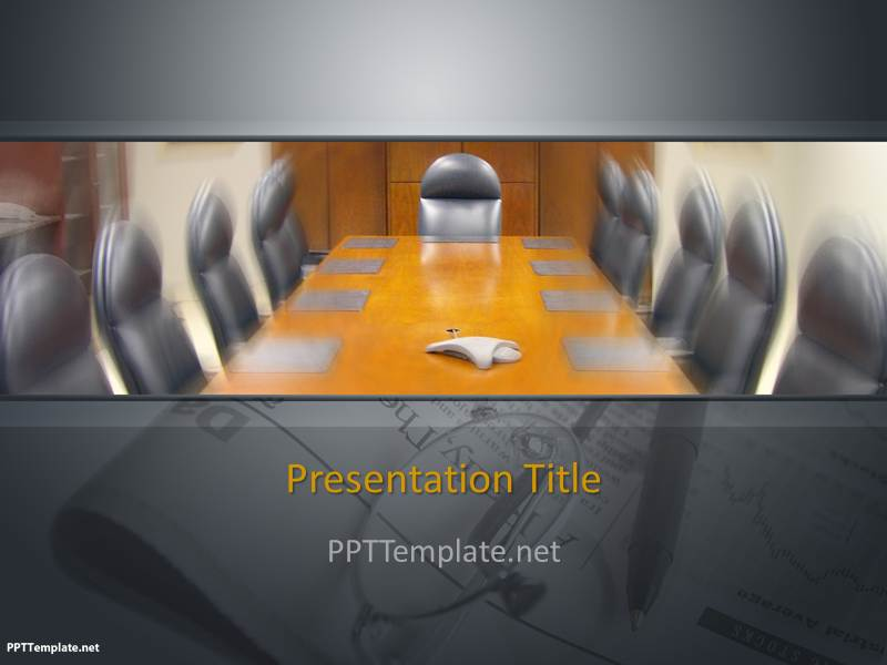 Free Business Meeting PPT Template