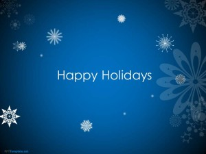 Animated Happy Holidays PPT Template