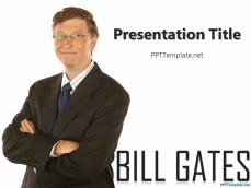 Bill Gates PowerPoint Template