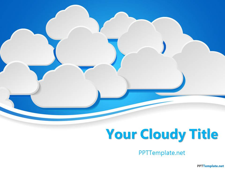 free cloud ppt templates ppt template