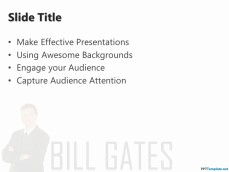 Microsoft PowerPoint Template with Bill Gates in the Slide Design