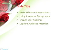 Flower PPT template with white background