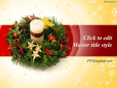 Free Christmas Wreath PowerPoint Template