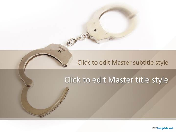 Free Prison Handcuffs PPT Template