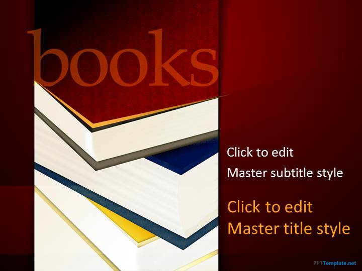 Free Books PPT Template
