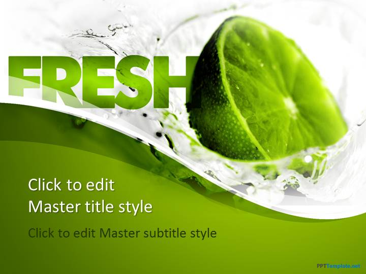 Free Fresh Lemon PPT Template