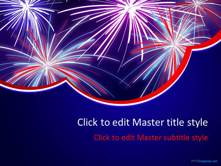 Free Firework PPT Template