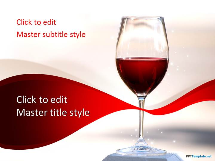 Free Red Wine PPT Template