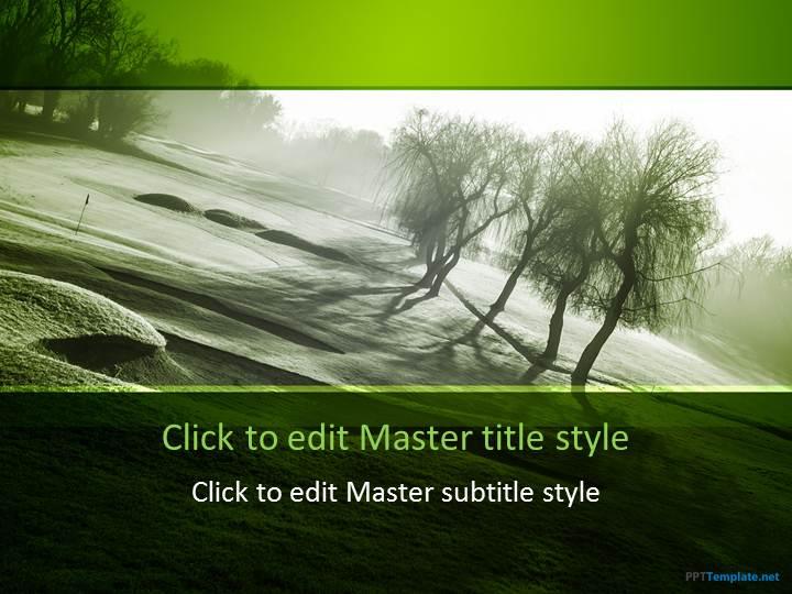 Free Golf Court PPT Template