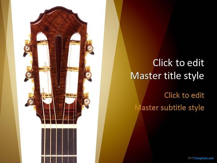 Free Guitar PPT Template