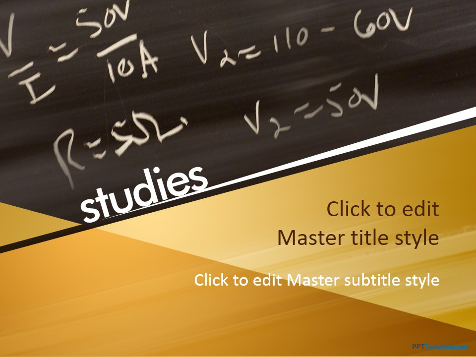 Free Educational Chalkboard PPT Template