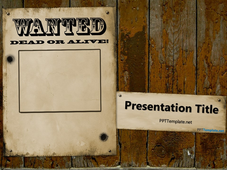 free wanted dead or alive powerpoint template