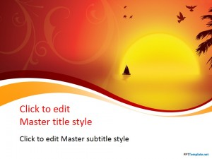 Free Sunset PPT Template