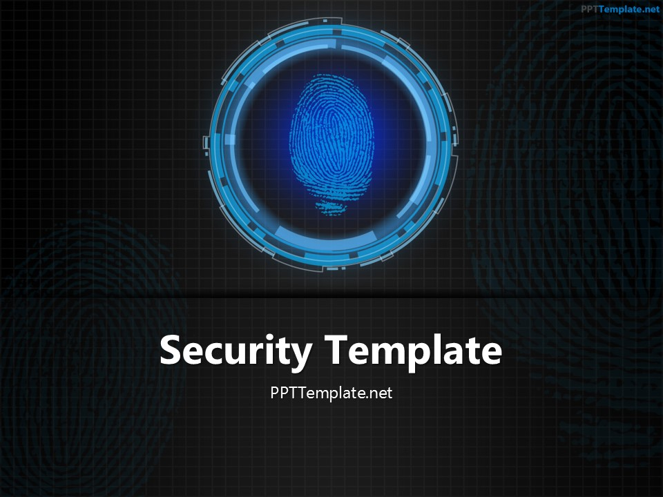free tech finger print ppt template