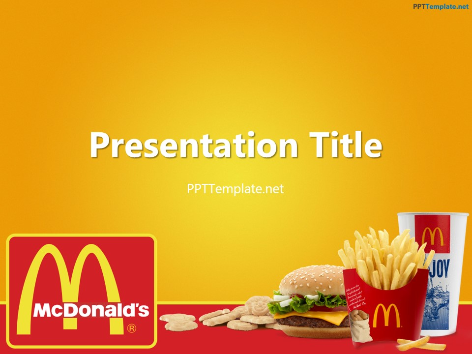 Free McDonald's With Logo PPT Template