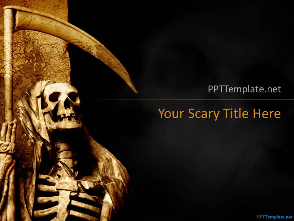 Free Skull Halloween PPT Template