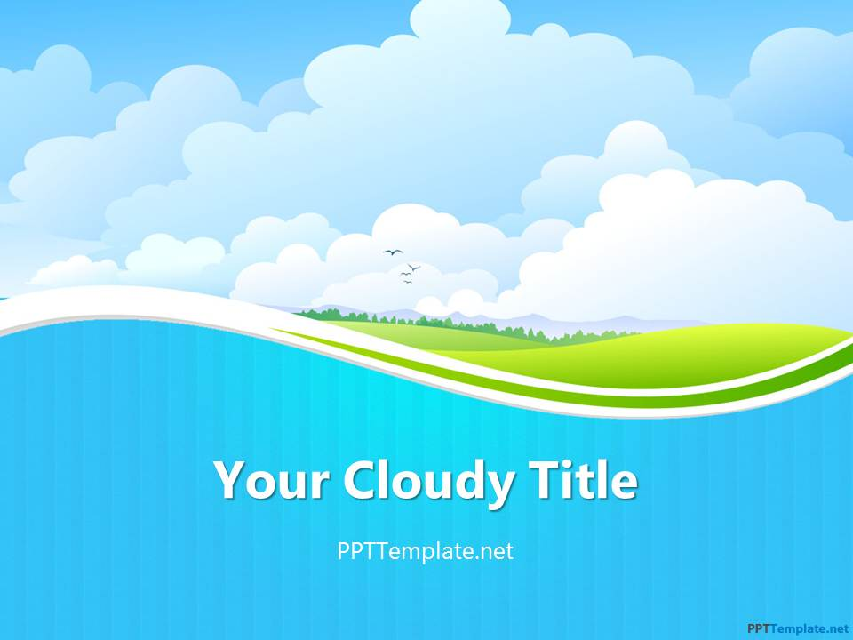 Free sky ppt template for Video background powerpoint templates free download