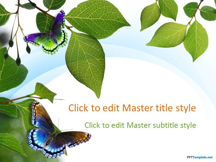 Free green nature ppt template free nature leaves ppt template toneelgroepblik Choice Image
