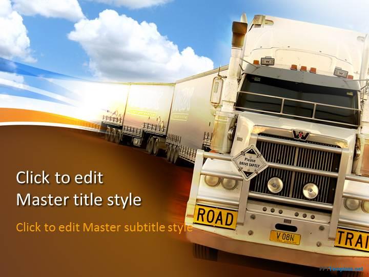 Free transportation truck ppt template toneelgroepblik Choice Image