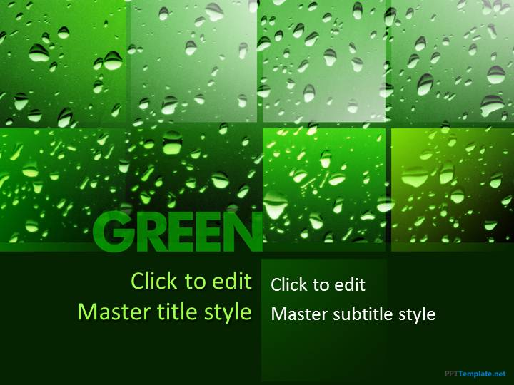free going green ppt template