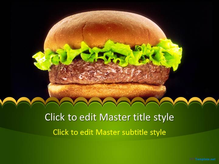 Free hamburger ppt template toneelgroepblik Choice Image