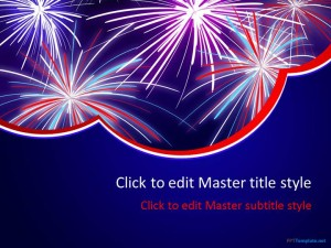 Firework ppt template free firework ppt template pronofoot35fo Image collections