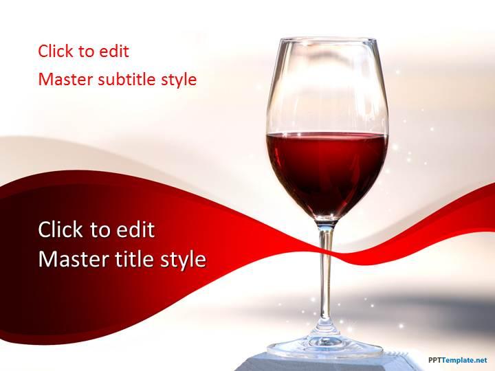 Free red wine ppt template toneelgroepblik Choice Image