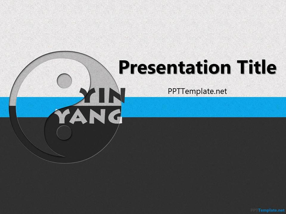 Free yin yang ppt template toneelgroepblik Image collections