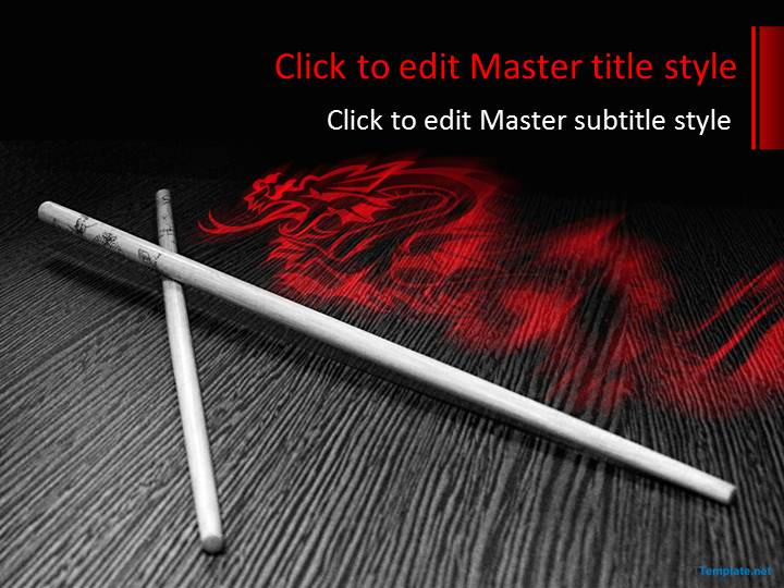 Free dark red ppt template free chopsticks ppt template toneelgroepblik Image collections