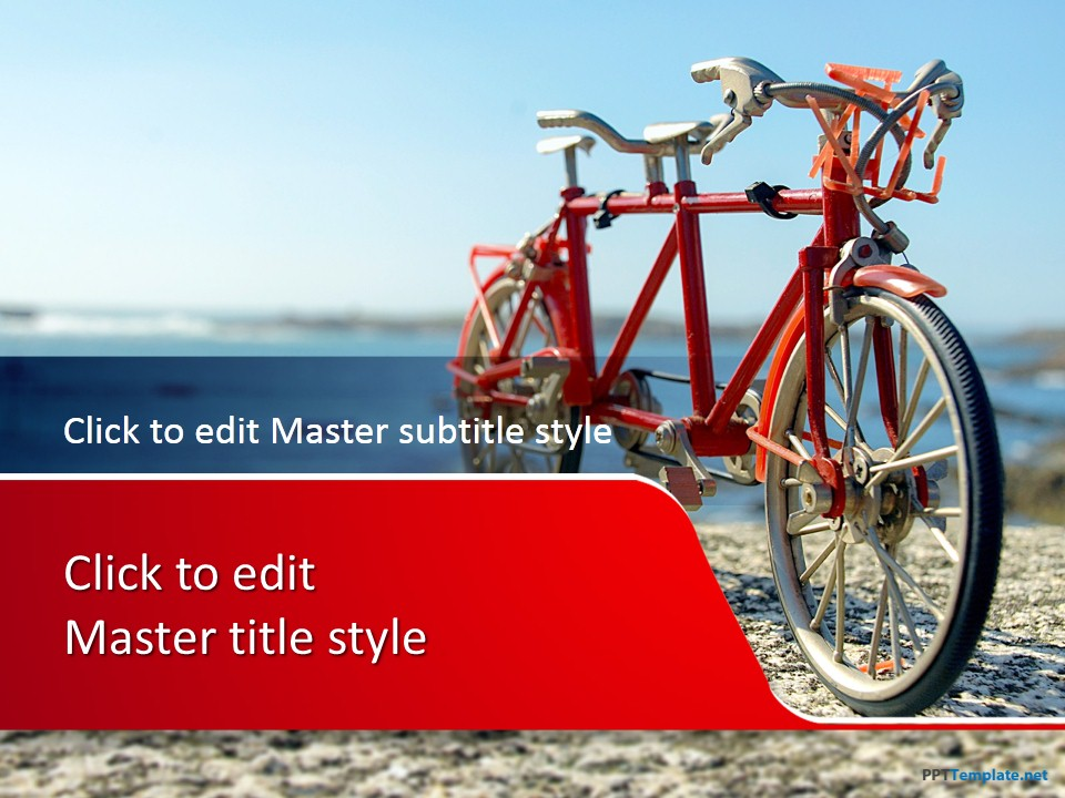 Free vacation ppt templates ppt template 10331 bike ppt template 0001 1 toneelgroepblik Choice Image