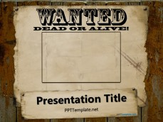Free police ppt templates ppt template free wanted powerpoint template toneelgroepblik Choice Image