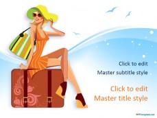 Free beautiful ppt templates ppt template 10349 travel girl ppt template 0001 1 toneelgroepblik Gallery
