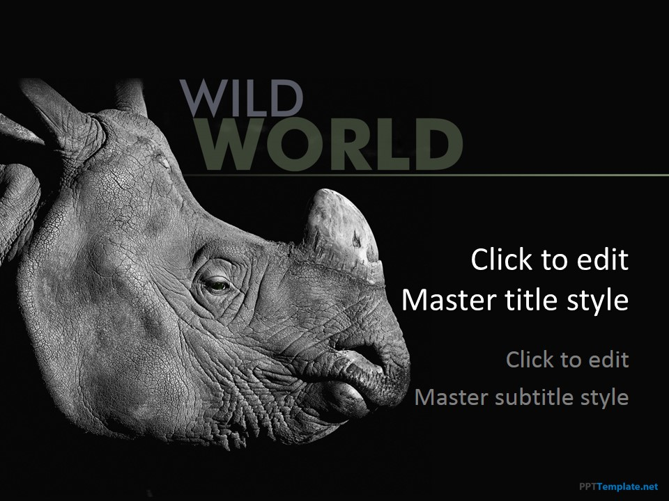 free rhinoceros ppt template