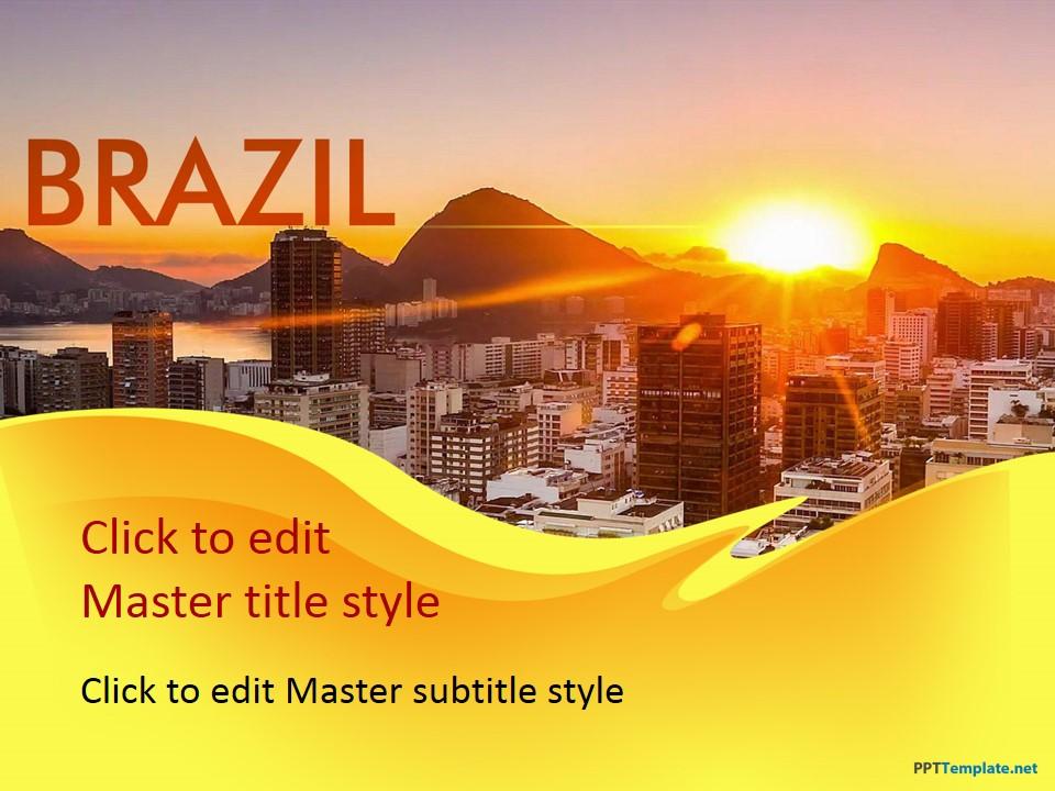 Free brazil ppt template toneelgroepblik Image collections
