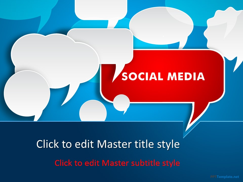 Free social media discussion ppt template toneelgroepblik