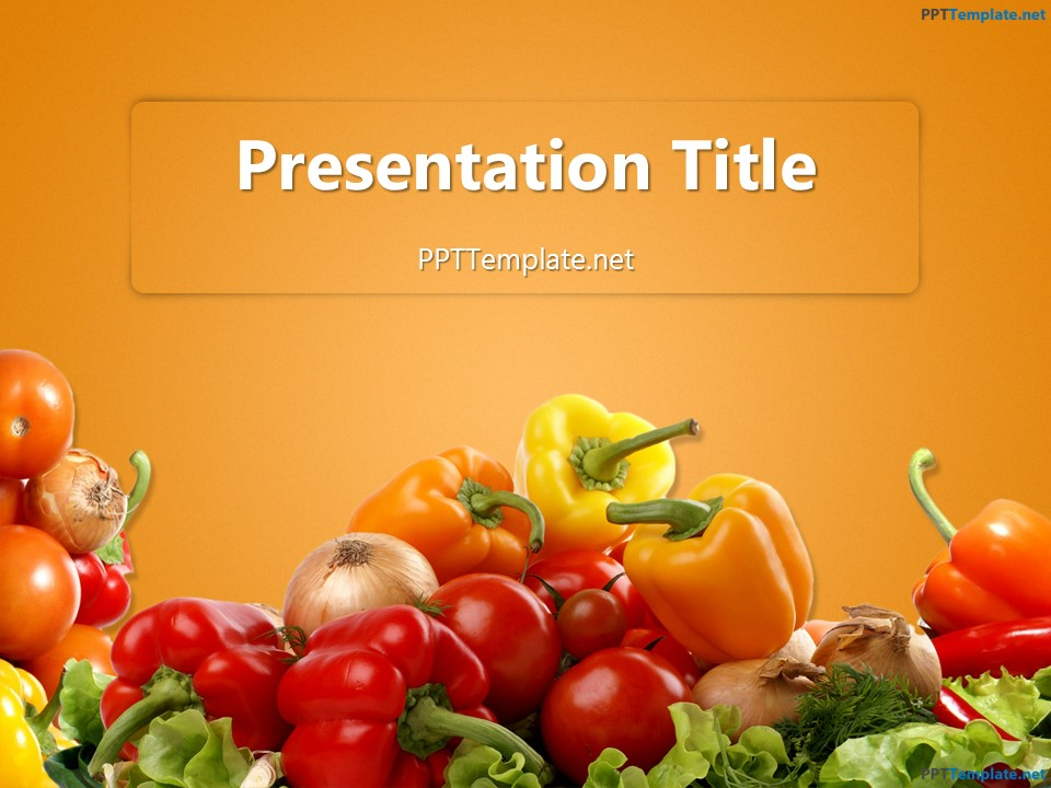 Free various vegetables ppt template toneelgroepblik Choice Image