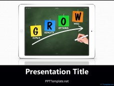 Free academic ppt templates ppt template 20387 ipad grow chalkhand white ppt template 1 toneelgroepblik Gallery