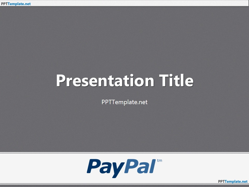 Ppt template free powerpoint template for presentations 20035 paypal with logo ppt template 1 toneelgroepblik Images